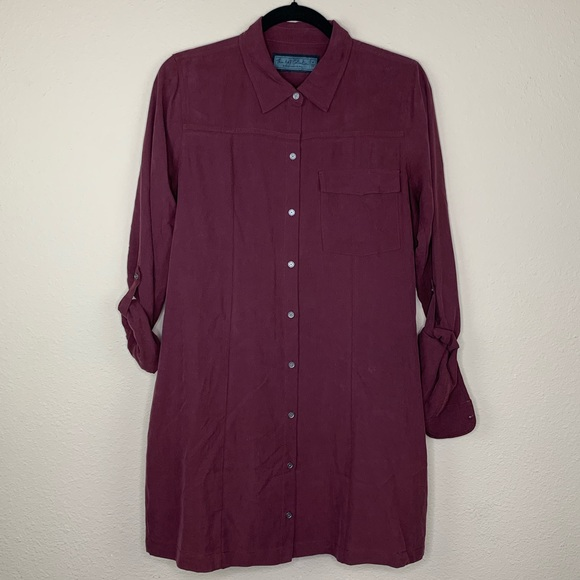 Abercrombie & Fitch 100% Silk Shirt Dress